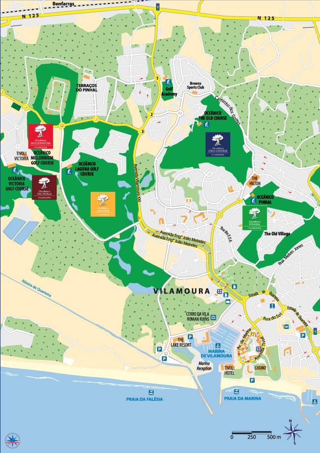 Map - Portugal map vilamoura