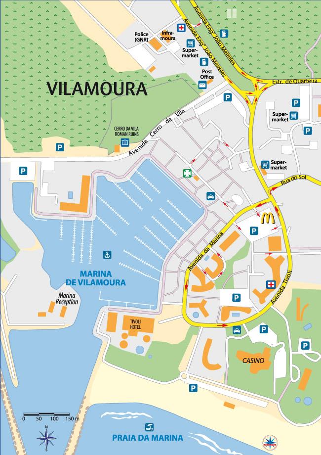 Vilamoura Map - Portugal map vilamoura